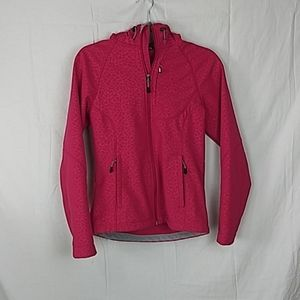 KIRKLAND pink on pink leopard print jacket size Sw